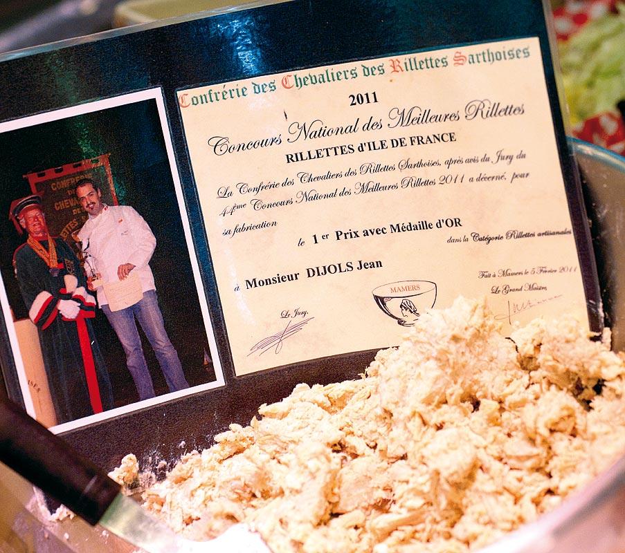 Médaille d'Or 2011 au Concours des Meilleures Rillettes d'île-de-France