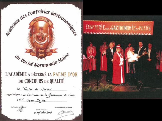 PALME D'OR 2008 de la Terrine de Canard – Flers