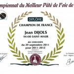 TROPHÉE EIFFEL – CHAMPION DE FRANCE du Pâté de foie à Paris