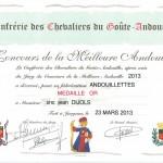 CHAMPION DE FRANCE de l'andouillette et de l'andouille cuite à Jargeau